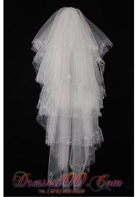 Best Fingertip Veil for Wedding Tulle Layers