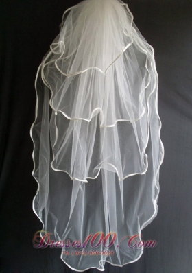 Layered Tulle Wedding Veils for Simple