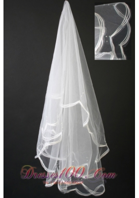 Pretty Handmade Pearl Organza Veils For Popular