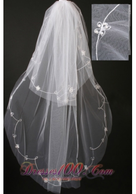Perfect Pearl Trim Edge Popular Veils Tulle