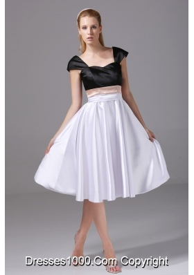 Cap Sleeves Sweetheart Multi-colored Low Back Prom Dress