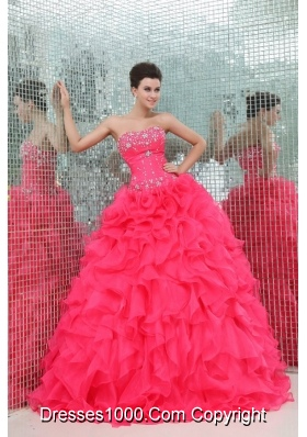 Fancy Diamonds and Ruffles Puffy Organza Sweet Sixteen Dresses
