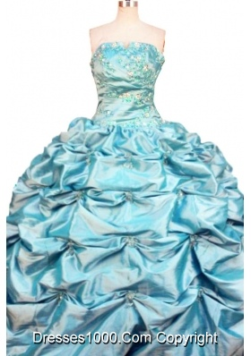 Affordable Ball Gown Strapless Floor-length Quinceanera Dresses