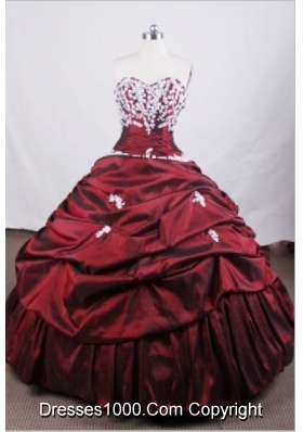 Beautiful Ball Gown Sweetheart Floor-length Quinceanera Dresses Appliques