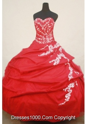 Beautiful Ball Gown SweetheartFloor-length Quinceanera Dresses Appliques