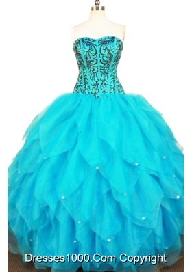 Exclusive Ball Gown Sweetheart Floor-length Quinceanera Dresses Appliques
