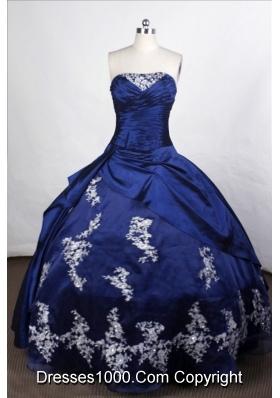 Lovely Ball Gown Strapless Floor-length Taffeta Quinceanera Dresses
