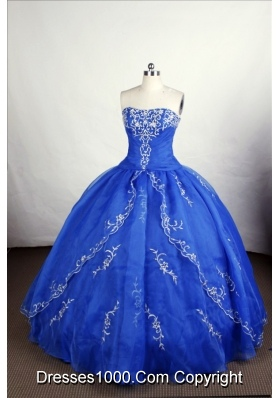 Perfect Ball Gown Strapless Floor-length Organza Quinceanera Dresses