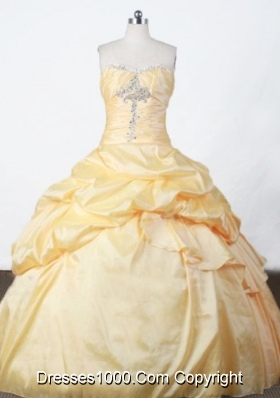 Pretty Ball Gown Strapless Floor-length Appliques Quinceanera Dresses