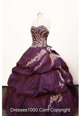 Pretty Ball gown Strapless Floor-length Purple Quinceanera Dress