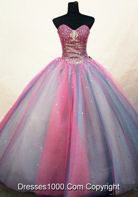 Pretty Ball Gown Sweetheart Floor-length Quinceanera Dresses Sequins