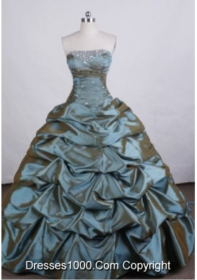 Affordable Ball gown Strapless Floor-length Quinceanera Dresses Beading