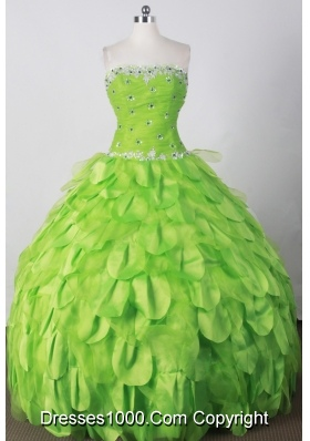 Perfect Ball Gown Strapless Floor-length Spring Green Quinceanera Dress
