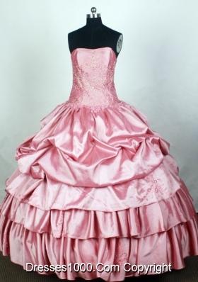 Elegant Ball Gown Strapless Floor-length Light Pink Quincenera Dresses