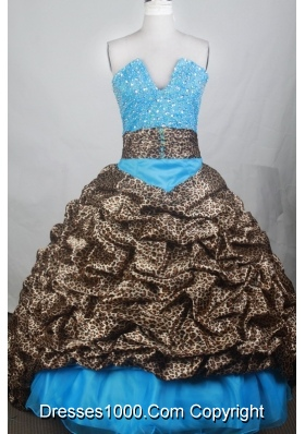 Exquisite Ball Gown V-neck Brush Quincenera Dresses