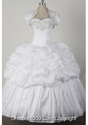 2012 Cheap Ball Gown Sweetheart Floor-length Qunceanera Dress