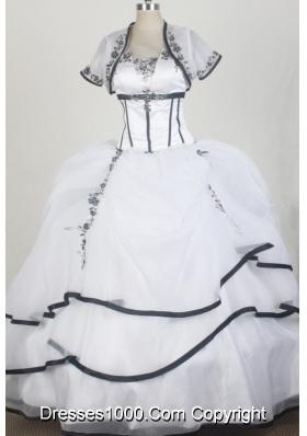 2012 Elegant Ball Gown Sweetheart Floor-length Qunceanera Dress