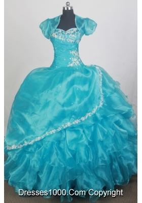 2012 Popular Ball Gown Sweetheart Floor-length Qunceanera Dress