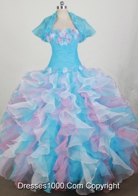 2012 Romantic Ball Gown Strapless Floor-length Qunceanera Dress