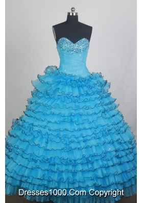 Beautiful Ball gown Sweetheart-neck Floor-length Quinceanera Dresses