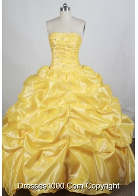 Brand New Ball gown Strapless Floor-length Quinceanera Dresses
