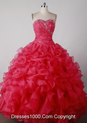 Brand New Ball Gown Sweetheart Floor-length Red Quincenera Dresses