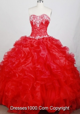 Classical Ball Gown Sweetheart Neck Floor-length Quinceanera Dress