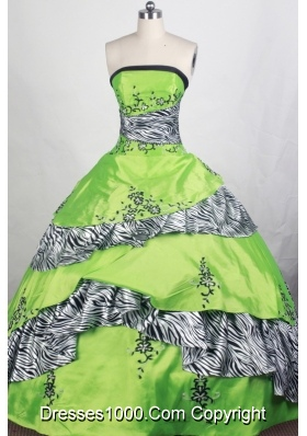 Elegant Ball gown Strapless Floor-length Quinceanera Dresses