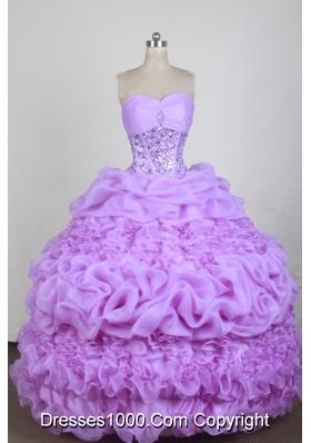 Exquisite Ball Gown Sweetheart Neck Floor-length Quinceanera Dress