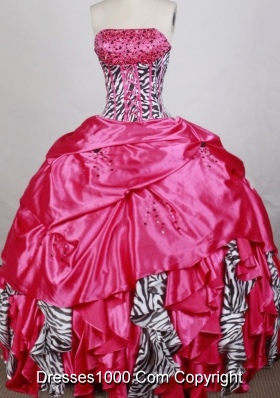 Gorgeous Ball Gown Strapless Floor-length Quinceanera Dress