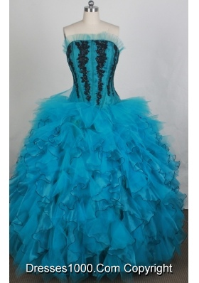Gorgeous Ball gown Strapless Floor-length Quinceanera Dresses