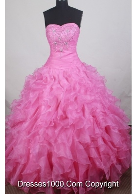Gorgeous Ball gown Sweetheart-neck Floor-length Quinceanera Dresses