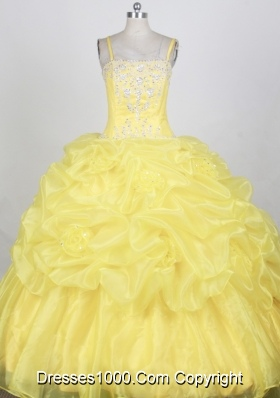 Popular Ball gown Strap Floor-length Quinceanera Dresses