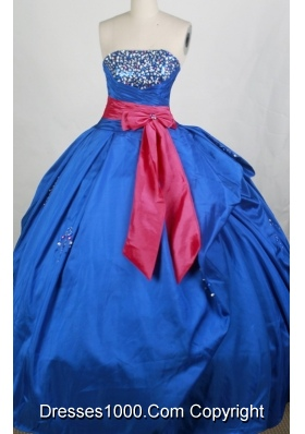 Popular Ball gown Strapless Floor-length Quinceanera Dresses