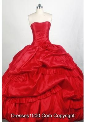 Popular Ball gown Strapless Floor-length Quinceanera Dresses
