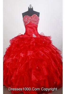 Romantic Ball Gown Sweetheart Neck Floor-length Quinceanera Dress