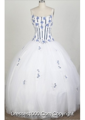 2012 Luxurious A-Line Straps Floor-Length Quinceanera Dresses