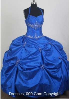 2012 New Ball Gown Halter Top Floor-Length Quinceanera Dress