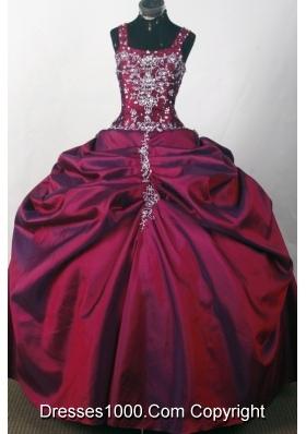 2012 Popular Ball Gown Strapless Floor-Length Quinceanera Dresses