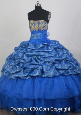 2012 Popular Ball Gown Strapless loor-Length Quinceanera Dress