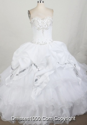 2012 Unique Ball Gown Strapless Floor-Length Quinceanera Dress