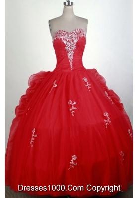 Classical Ball Gown Sweetheart Floor-length Quinceanera Dress