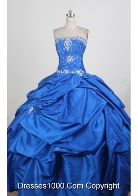 Exquisite Ball Gown Strapless Floor-length Quinceanera Dress