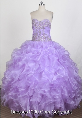 Exquisite Ball Gown Sweetheart Floor-length Quinceanera Dress