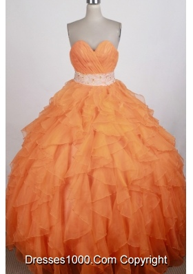 Exquisite Ball Gown Sweetheart Floor-length Quinceanera Dress