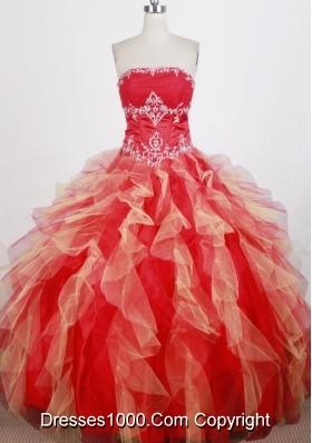 Modest Ball Gown Strapless Floor-length Quinceanera Dress