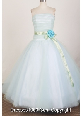 Modest Ball Gown Strapless Floor-length White Quinceanera Dress