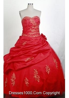 Modest Ball Gown Sweetheart Floor-length Quinceanera Dress