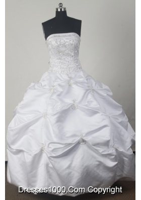Perfect Ball Gown Strapless Floor-length White Quinceanera Dress