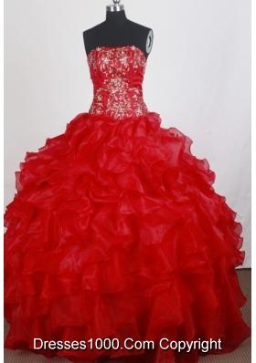 Popular Ball Gown Strapless Floor-length Quinceanera Dress